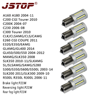 JSTOP 6pcs/set A160A180C200C230C300S300CLK Ba15s 1156 P21W Brake Lights canbus No error car12V Rear fog light led Reversing lamp