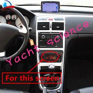 Image 5 - Auto ACC Lcd Modulo del Pannello Monitor di Visualizzazione di Riparazione del Pixel sfondo Rosso Aria Condizionata Informazioni Dello Schermo Per Peugeot 207