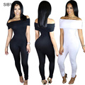 Elegant Women Rompers Jumpsuit 2016 Summer Short Sleeve Sexy Black Bodysuit Bodycon Jumpsuits Club Wear Overalls For Women
