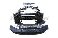 Car Accessories FRP Fiber Glass Body Kit Fit For 2008 2014 R35 GTR LB Style Bodykit Front Bumper Diffuser Over Fender Spoiler