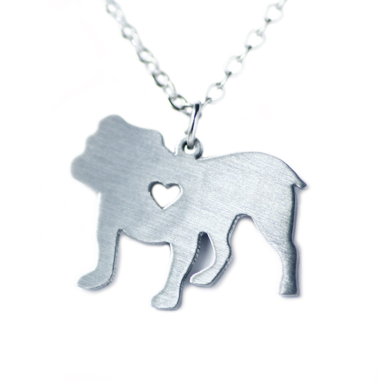 SUTEYI Summer style chain the british bulldog pendant necklace stainless steel necklaces animals both unisex necklace