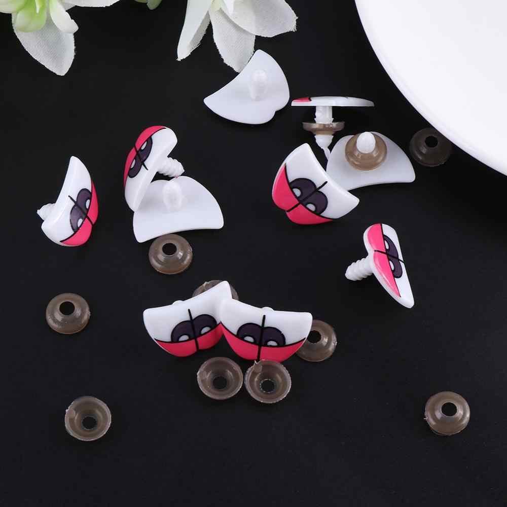 10pcs חמוד Cartoon בטיחות בובת עיני צעצוע דוב בובות בובות בובת פרווה מלאכות ילדי DIY עם מנקי