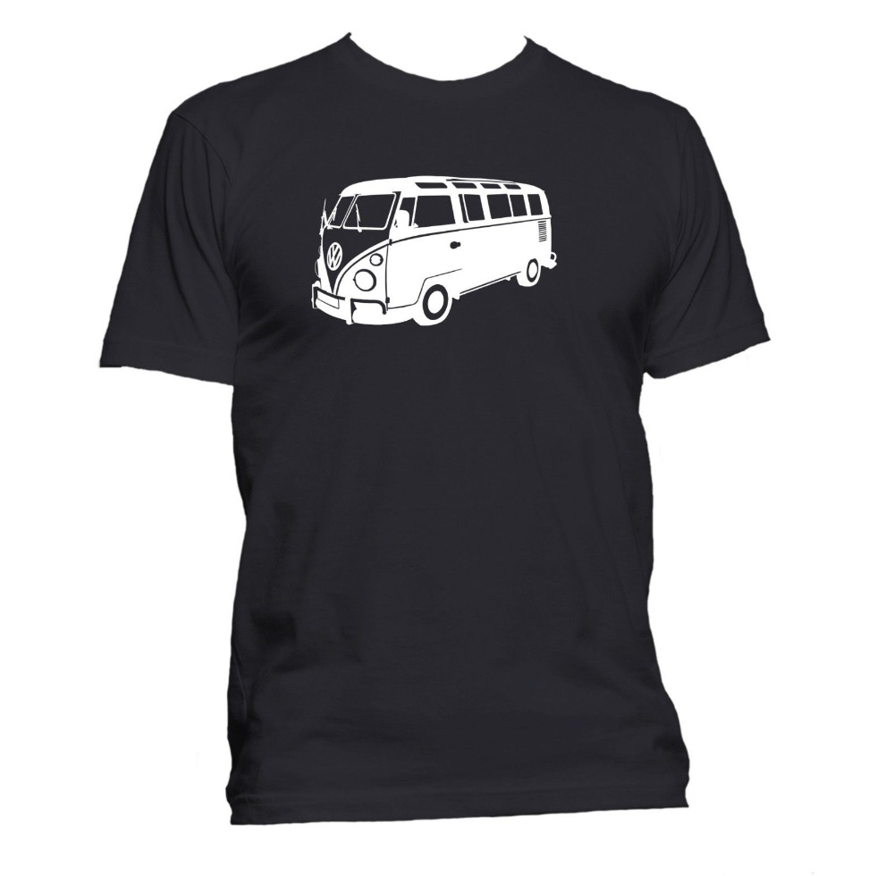 2018 Summer Hot Sale Short Sleeve 100% Cotton T Shirts Man Clothing Split Screen Car Minibus Fans Man Tee Shirts