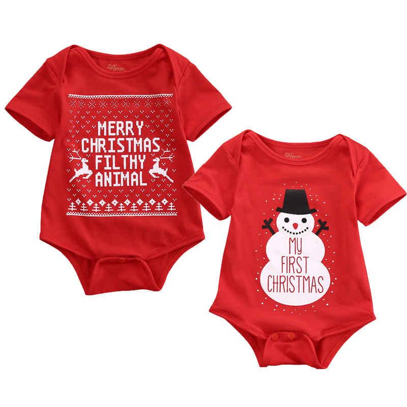 Рождественская Детская одежда Snowmen & Merry christmas детские комбинезоны с печатью Детский комбинезон костюм Одежда для новорожденных 0-18 м