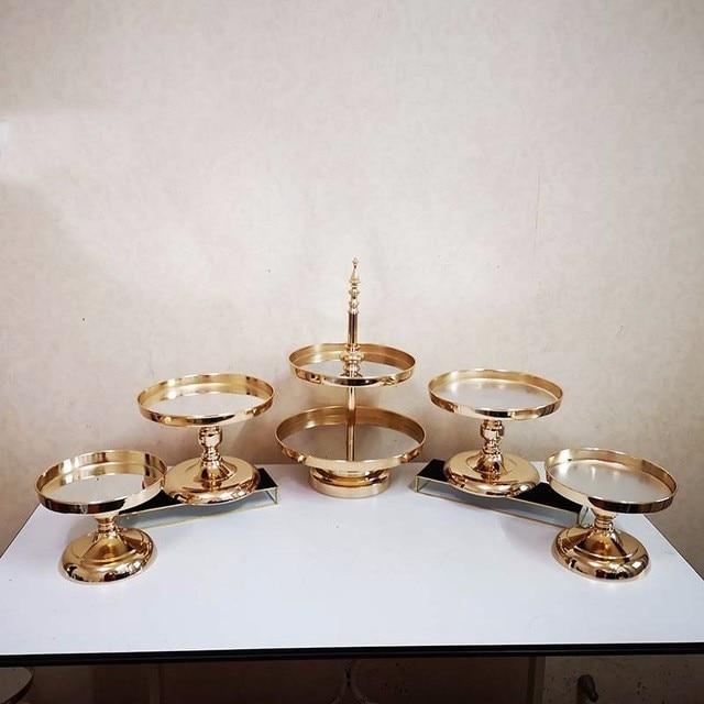 Image 2 - 5 шт гальваническое золото 1 Набор Подставка для торта для свадебной вечеринкиСтойки    АлиЭкспресс
