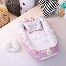 Переносная детская кроватка, складывающаяся кроватка для новорожденных, детская кроватка для сна с подушкой, детская колыбель, детская люлька, переносная кроватка