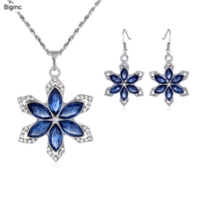 Women Foreign trade burst necklace earrings jewelry set jewelry quality spot J1200