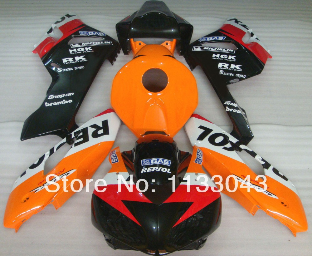 REPSOL 100%Fit Injection Fairings for HONDA CBR1000RR 04 05 CBR1000 RR 2004 2005 CBR 1000RR 04 05 fairing kits +7gifts +tank