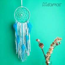 New Fashion Gift India Dreamcatcher Wind Chimes With Turquoise & Feather Pendant Dream Catcher Regalo AD150704009