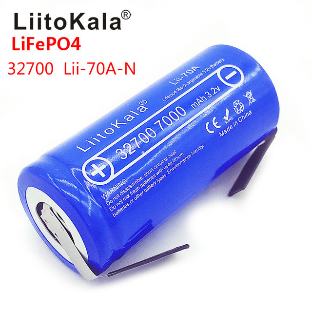 2019 LiitoKala Lii 70A 3.2V 32700 7000mAh LiFePO4 Battery 35A Continuous Discharge Maximum 55A High power battery+Nickel sheets