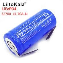 2019 LiitoKala Lii 70A 3.2V 32700 7000mAh LiFePO4 pil 35A sürekli deşarj maksimum 55A yüksek güç pil + nikel levhalar