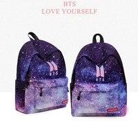 BTS Love Yourself K Pop Women Bangtan Boy School Bags Hip Hop Hoodies New Bts Backpack
