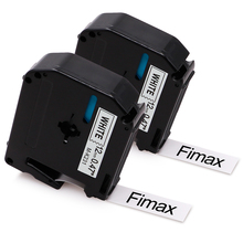 Fimax 2 Pcs Compatible for Brother P-Touch M Tape MK231 M-K231 12mm Black on White Plastic Brother P-Touch Label Printer Maker цена