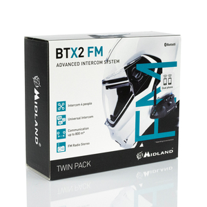 Image 5 - 2 sztuk MIDLAND BTX2 kask motocyklowy z bluetooth zestaw słuchawkowy domofon FM motocykl BT domofon odbieranie bez użycia rąk 800M