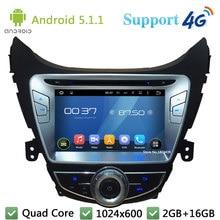 Quad Core 8″ 1024*600 Android 5.1.1 Car DVD Player Radio Stereo DAB+ 3G/4G WIFI GPS Map For Hyundai Elantra Avante I35 2011-2013
