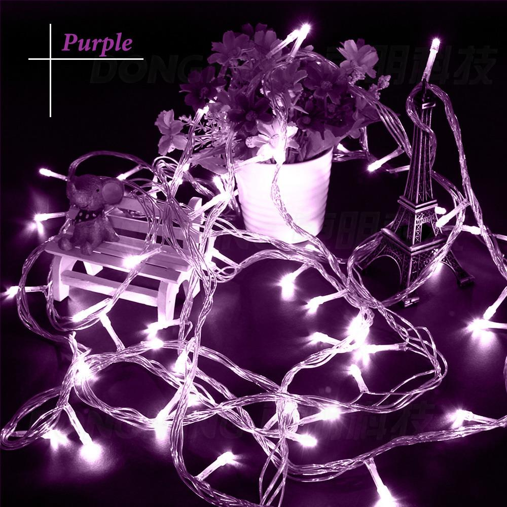 9 warna 33ft 100 Led christmas light 10m fairy string party Led lampu - Pencahayaan perayaan - Foto 4