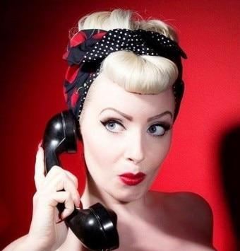 1950 s mujeres vintage cherry polka dot pinup rockabilly accesorios para el  cabello bandana vincha para el pelo envoltura para la cabeza bufanda bandana  ... 35e0042019b