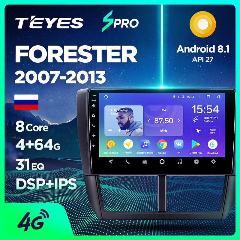 TEYES SPRO Car Radio Multimedia Video Player Navigation GPS Android For Subaru Forester accessories sedan dvd Forester 3