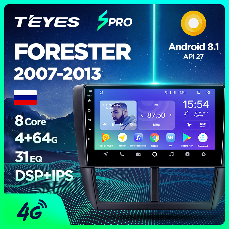 US $267 3 55% OFF|TEYES SPRO Car Radio Multimedia Video Player Navigation  GPS Android For Subaru Forester accessories sedan dvd Forester 3-in Car