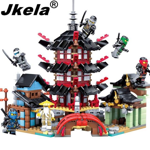 [Jkela]2017 Ninja Temple 737+pcs DIY Building Block Sets educational Toys for Children Compatible legoing ninjagoes decool 3114 city creator 3in1 vehicle transporter building block 264pcs diy educational toys for children compatible legoe