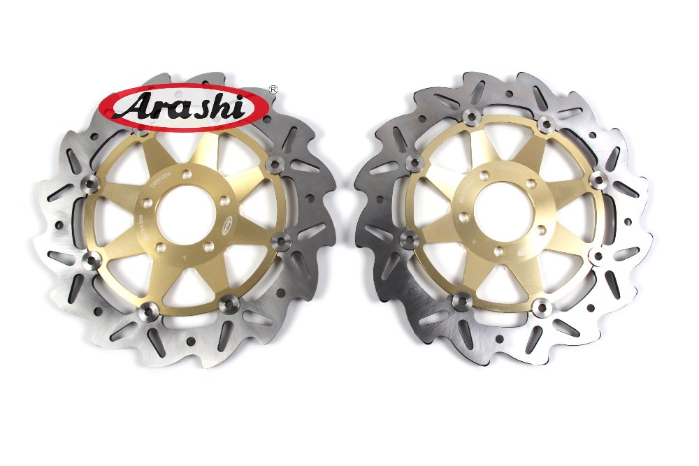 Arashi 1Pair Z1000 2003-2006 CNC Front Brake Disc Brake Rotors For KAWASAKI Z1000 Z 1000 2003 2004 2005 2006 Motorcycle Parts 1 pair camshaft adjuster 2710500900 2710500800 for mercedes c230 w203 1 8l 2003 2004 2005