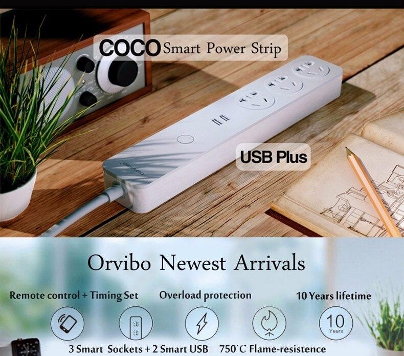 Orvibo coco smart wifi steckdosen schalter 2 usb verlängerungskabel ...
