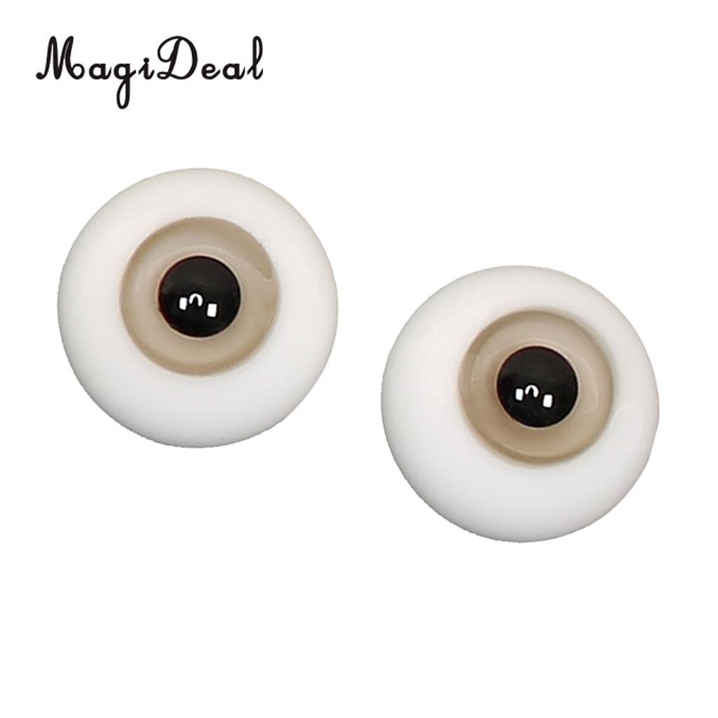 Nice 10mm purple Iris/&Black Pupil Glass BJD Eyes for Joint 1//6 BJD Dollfie