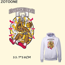 ZOTOONE Cool Basketball Man EXTREME DUNK Patches Iron on Transfers for Clothing Fashion Stickers Decoration A-level Washable C