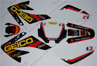 CRF 70 GEICO GRAPHICS KIT CRF70 DECO DECALS STICKERS DIRT PIT BIKE SENGE Motocross Kayo BSE