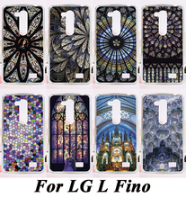 Amazing Geometric Design Phone Back Cover For LG L FINO D290 D290N D295 Fashion Hard Phone Cases Skin Colourful Church Roof