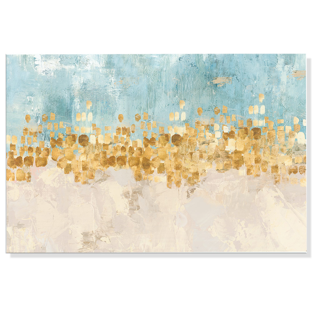 HD Print Abstract Gold Color Canvas Paintings For Bed Room Wall Turquoise Color Modern Home Wall Decor Pictures NO FRAME