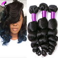 Brazilian Virgin Hair Loose Wave 4 Bundles Brazilian Loose Wave The Best 100% Unprocessed Virgin Hair Aliexpress UK  Human Hair
