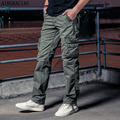 AIRGRACIAS Hot Sale Men's Multi-pockets Fashion Casual Long Trousers 100% Cotton Comfortable Loose Male Military Cargo Pants