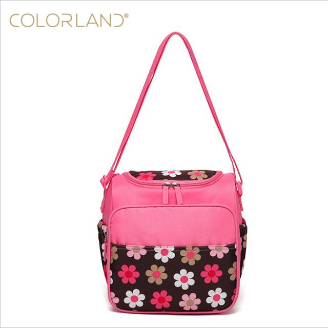 Colorland pañal Del Bebé Bolsa de mamá bolsa de mensajero de Las Mujeres de Múltiples Funciones del panal del bolso cambiador impermeable bebé aislado bolsa de mensajero