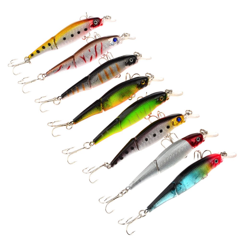 8pcs classic minnow hooks plastic fishing lures baits for Discontinued fishing tackle
