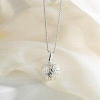 SA SILVERAGE Echt 925 Sterling Zilveren Kettingen Voor Vrouwen Hollow Laat Bal Hanger S925 Zilveren Ketting