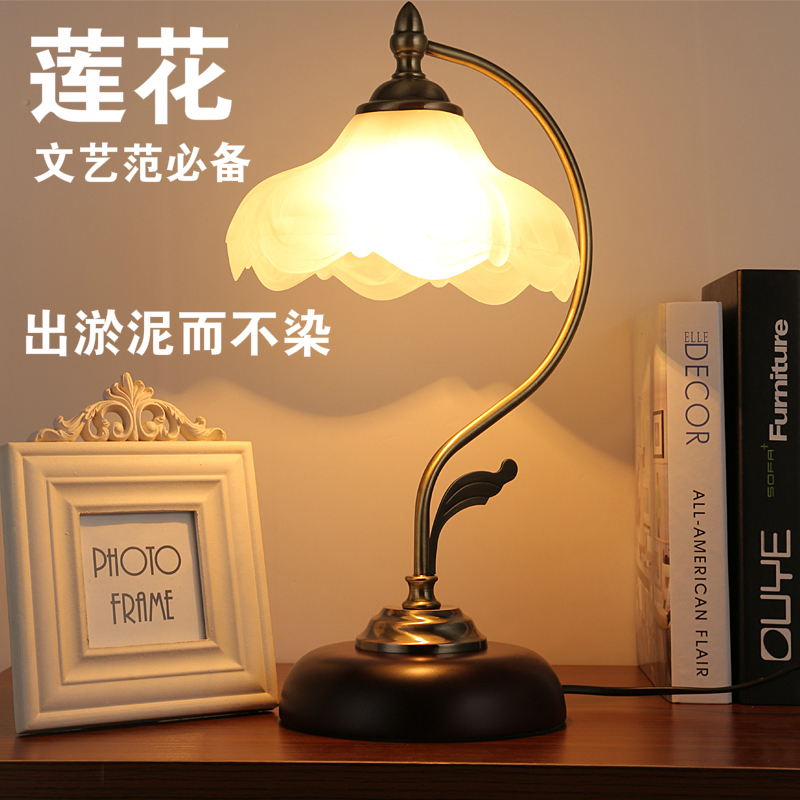 Fashion table lamp bedroom bedside lamp american dimming modern brief fashion touch bedside lighting