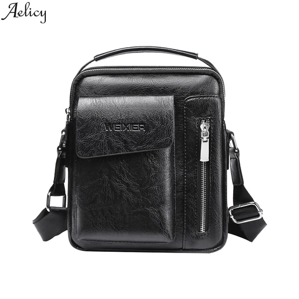 Aelicy Leather Crossbody Bag Casual Vintage Luxury PU Men