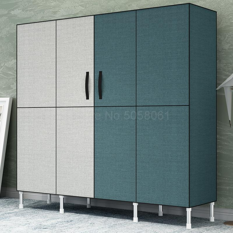 Simple Wardrobe Steel Tube Thickening Cloth Wardrobe Simple Economical Assembly Fabric Wardrobe Storage Cabinet