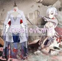Spiel SINoALICE Schnee Weiß Gothic Lolita Kleid Cosplay Kostüm Frauen Halloween Maß Kleid SINoALICE Schneewittchen Kostüme
