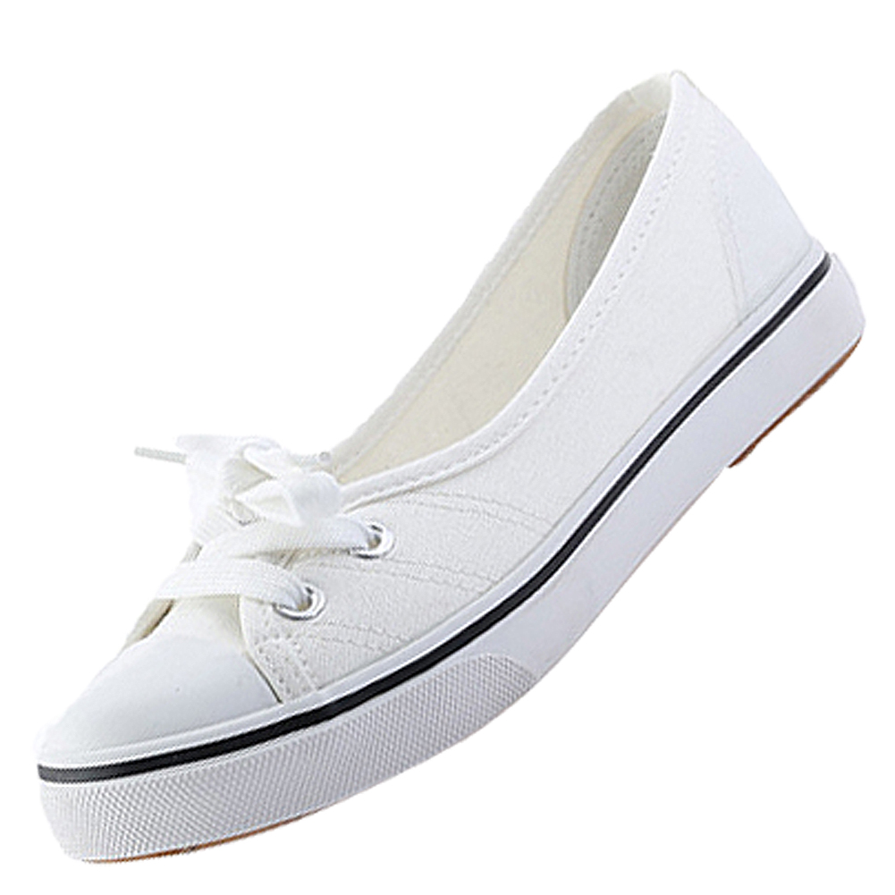 New 2017 Spring and Summer Women Flats Canvas Shoes women's Casual Shoes Brand Slip on Breathable flats new women s shoes in spring and summer 2017 will be able to make comfortable and sweet flat footed women s shoes