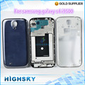 Original replacement full housing cover set for samsung galaxy s4 parts i9500 accessories blue&white 1 piece free shipping