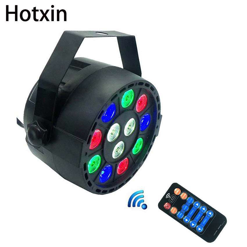 12W RGBW LED Stage Light Par Light With DMX512 Sound Activated for Club disco DJ projector Home Party Decoration Stage Light