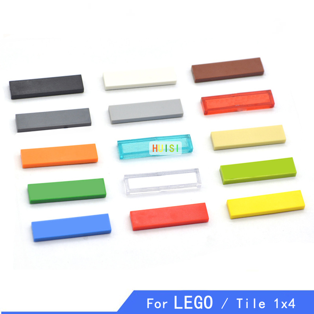 Compatible With LEGOo Tile 1X4 Parts Building Blocks Military DIY Figuree Plastic Construction Toys For Kids Early Learning 100p
