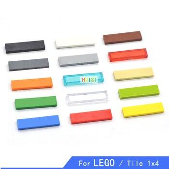 Compatible con LEGOo Tile 1X4 piezas de bloques de construcción militar DIY Figuree juguetes de construcción de plástico para niños Aprendizaje Temprano 100p