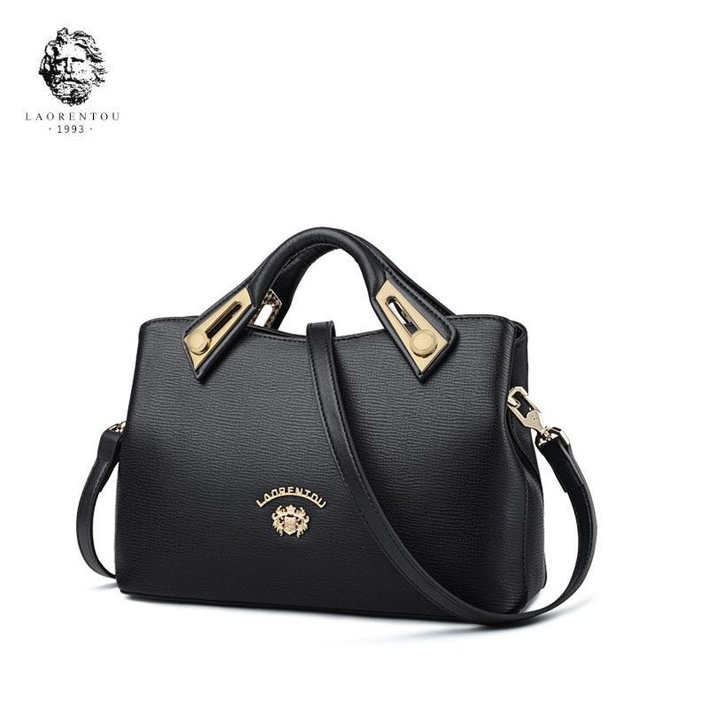 LAORENTOU brand bag for women 2018 new women leather bag fashion handbags Cowhide designer crossbody bags for women shoulder bag