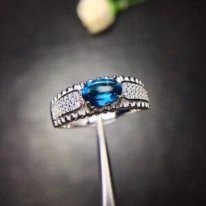Image 5 - Tự nhiên Topaz Nhẫn 925 Bạc Sapphire Màu Xanh Sapphire sản phẩm mới cập nhật mỗi ngày để tập trung vào những người bán hàng.