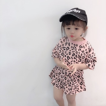 2019 Four-color Korean Version Two-piece For Girls Girls Clothing Sets Toddler Girl Clothing Baby Girl Summer Clothes 2