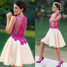 Vestidos madrinha 2019 new lace embroidery fluffy two-tone short cheap  bridesmaid dresses under 50 95f5a594b969
