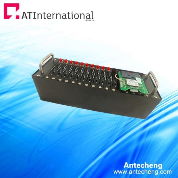 16 port gsm gprs modem pool with Q24plus TCP/IP
